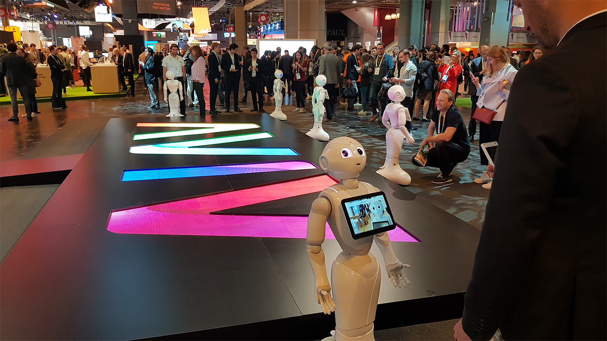 pepper at the vivatech main entrance