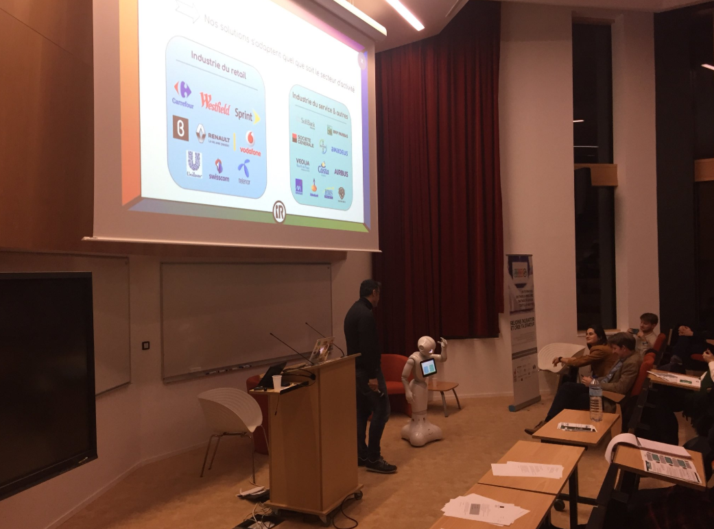pepper robot presented spark solution