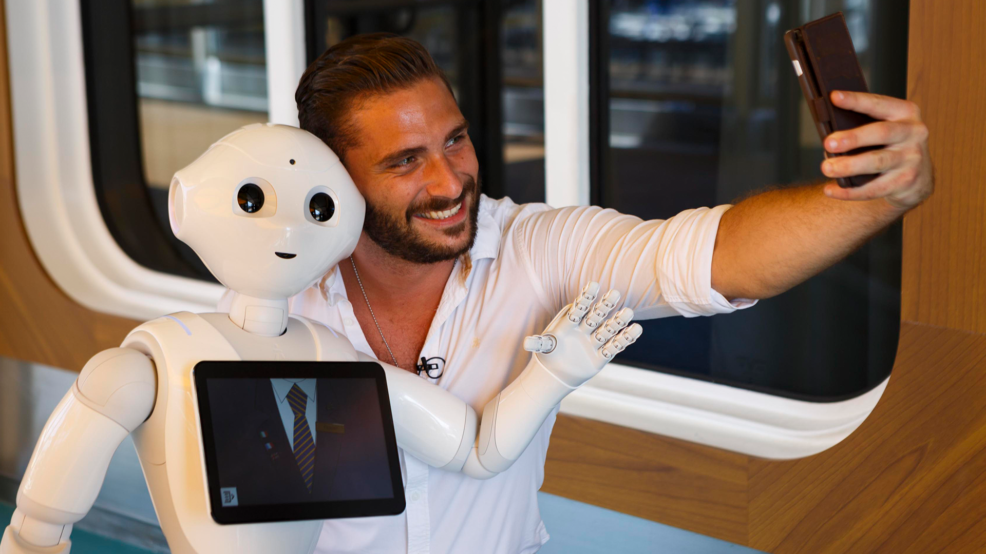 selfie with pepper