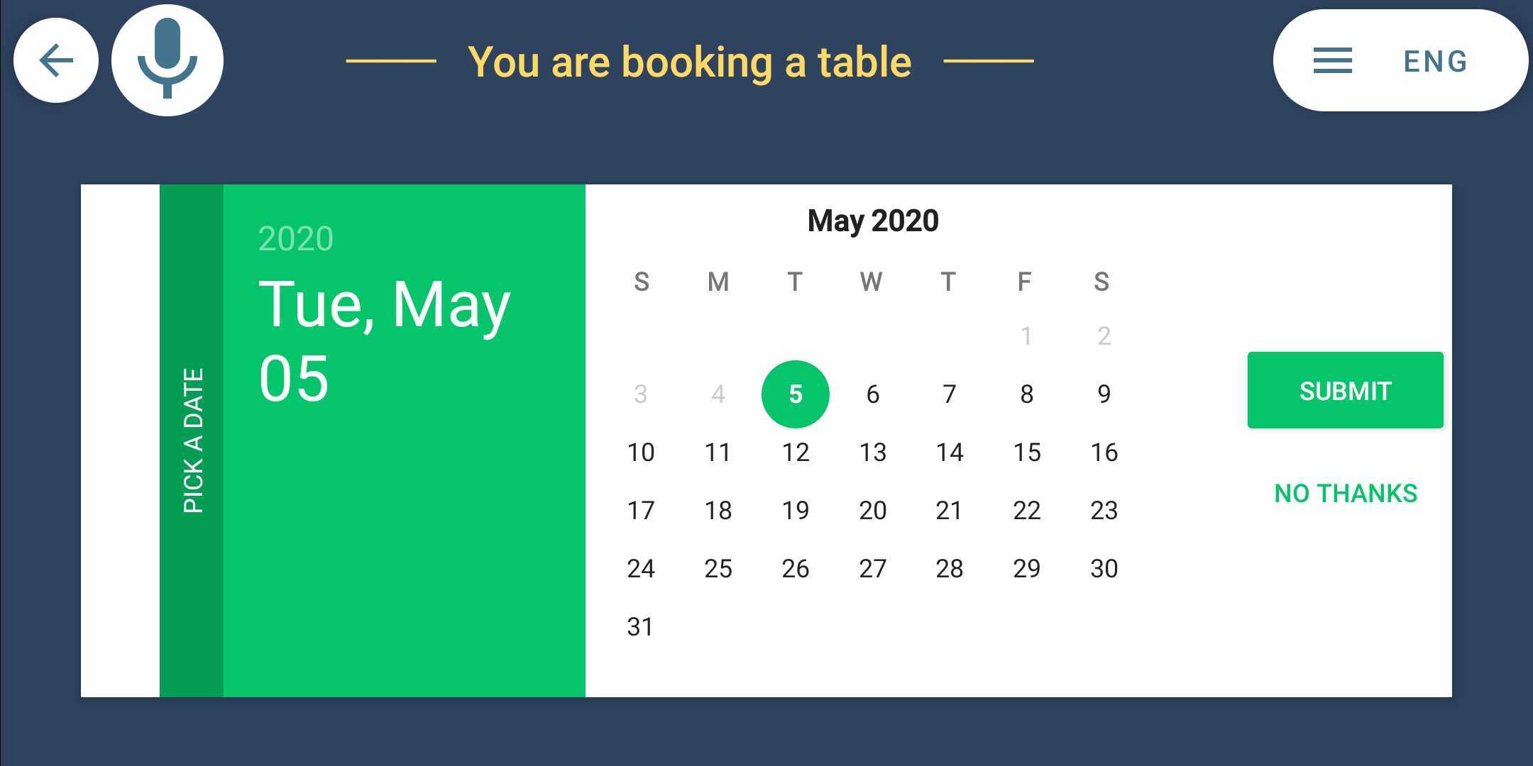 smart hotel restaurant booking time
