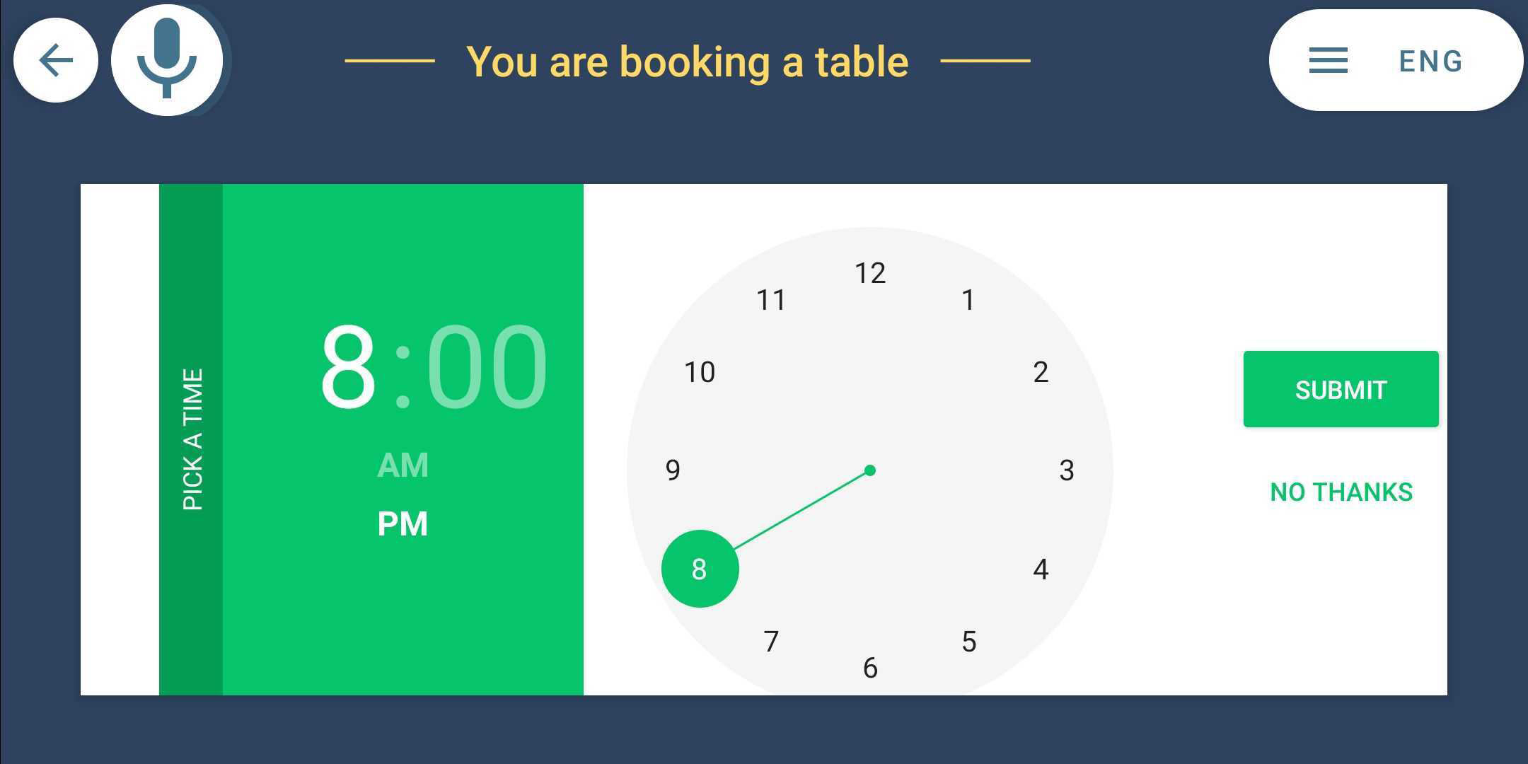 smart hotel restaurant booking table