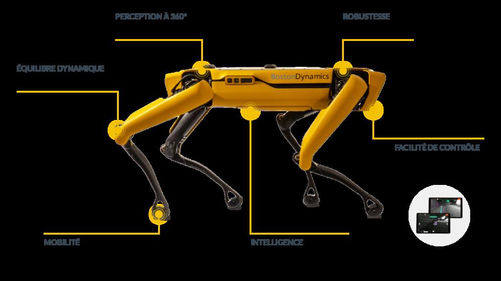 Caractéristiques du robot Spot