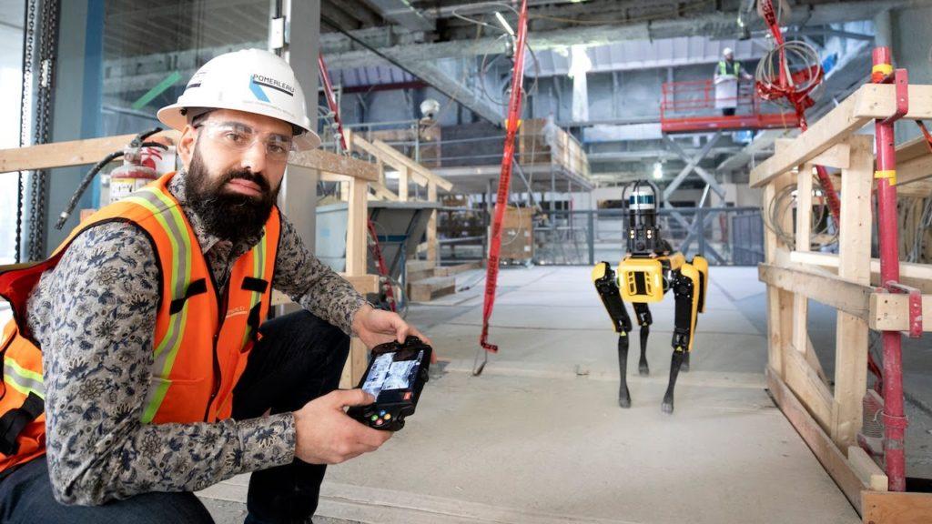 Spot robot construction pomerleau