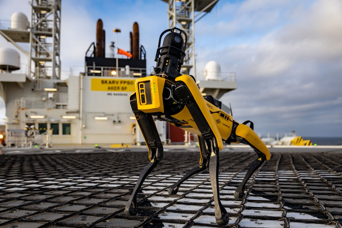 spot robot inspection industrie pétrolière aker bp