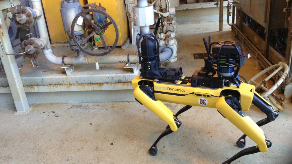 robot spot bp mad dog inspection industrie pétrolière
