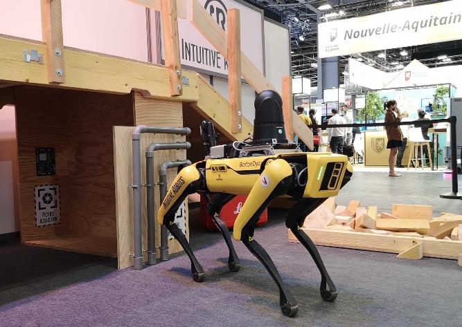 spot robot hikvision cameras